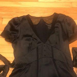 a EUC NEVER WORN MARC JACOBS NAVY SILK DRESS